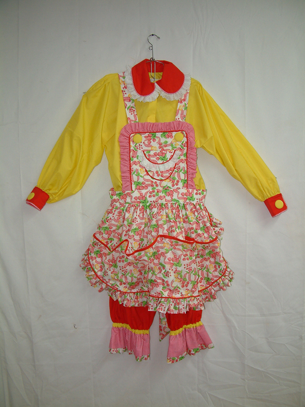 Apron Dress Red Yellow