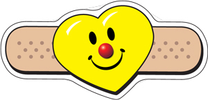 Heart Smiley Face Bandaid