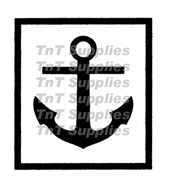 Tattoo Stencil Anchor