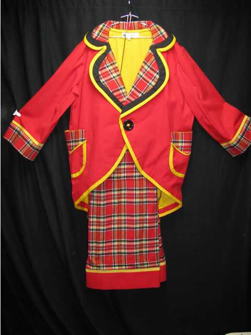 Great Coat and Pants Red Yellow Plaid