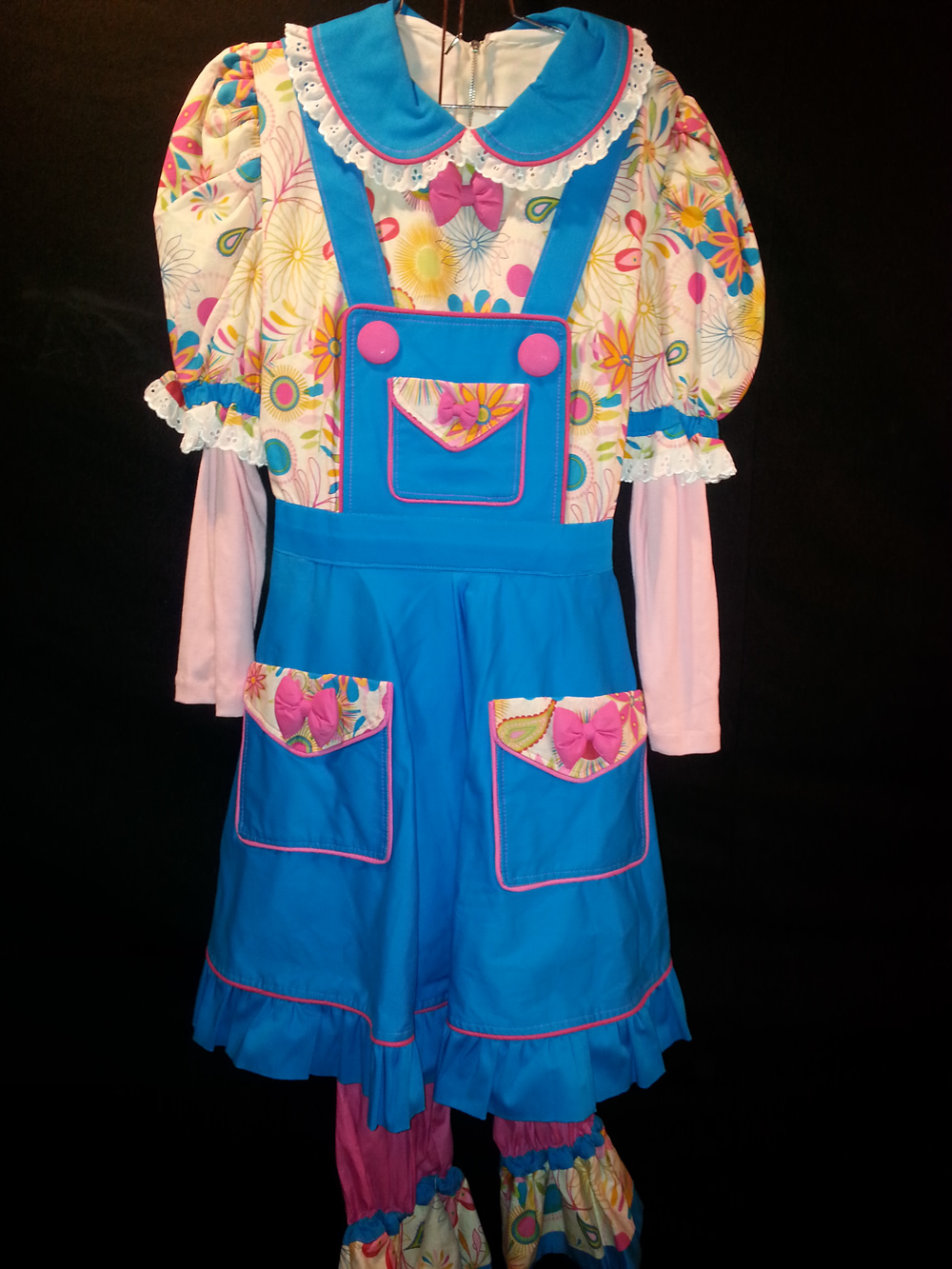 Bib Overall Blue Flower